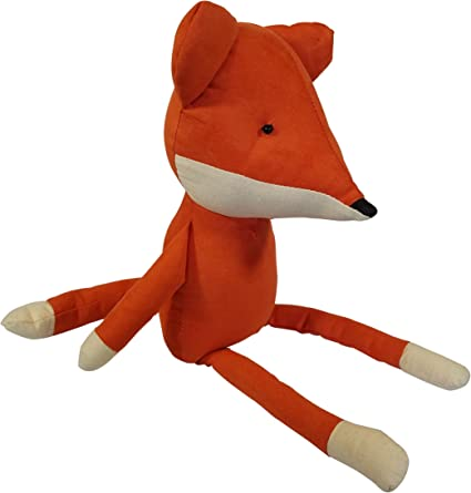 Orange Realistic Sitting Plush Fox 3Cats Plushies 3Cats Stuffed Fox Toy