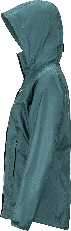 Marmot Wm\'s PreCip Eco Jacket, Giacca Antipioggia Rigida, Impermeabile Leggera, Antivento, Traspirante Deep Teal