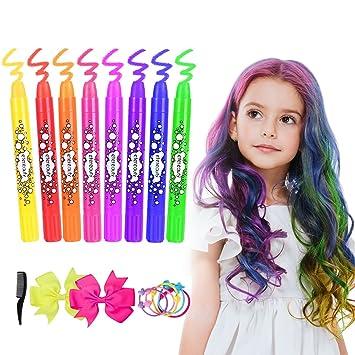 haarkreide etereauty 8 farben auswaschbar haarkreide temporare haarfarbe fur kinder madchen geschenke fur geburtstag