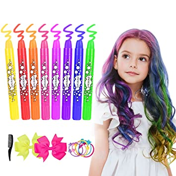 Amazon.com: Hair Chalk for Girls Kids, Temporary Hair Chalk Pens 8 ...