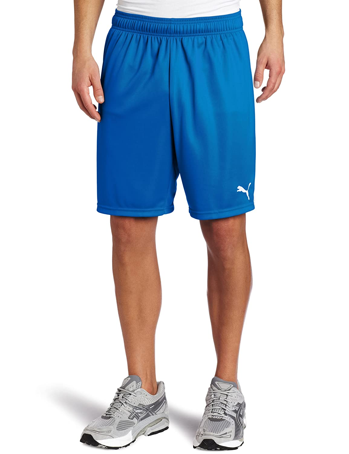 Puma Men's Team Shorts without Inner Slip, Youth Large, Puma Royal-Weiß