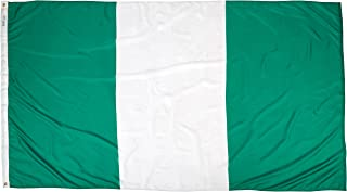 product image for Annin Flagmakers Model 196381 Nigeria Flag Nylon SolarGuard NYL-Glo, 5x8 ft, 100% Made in USA to Official United Nations Design Specifications