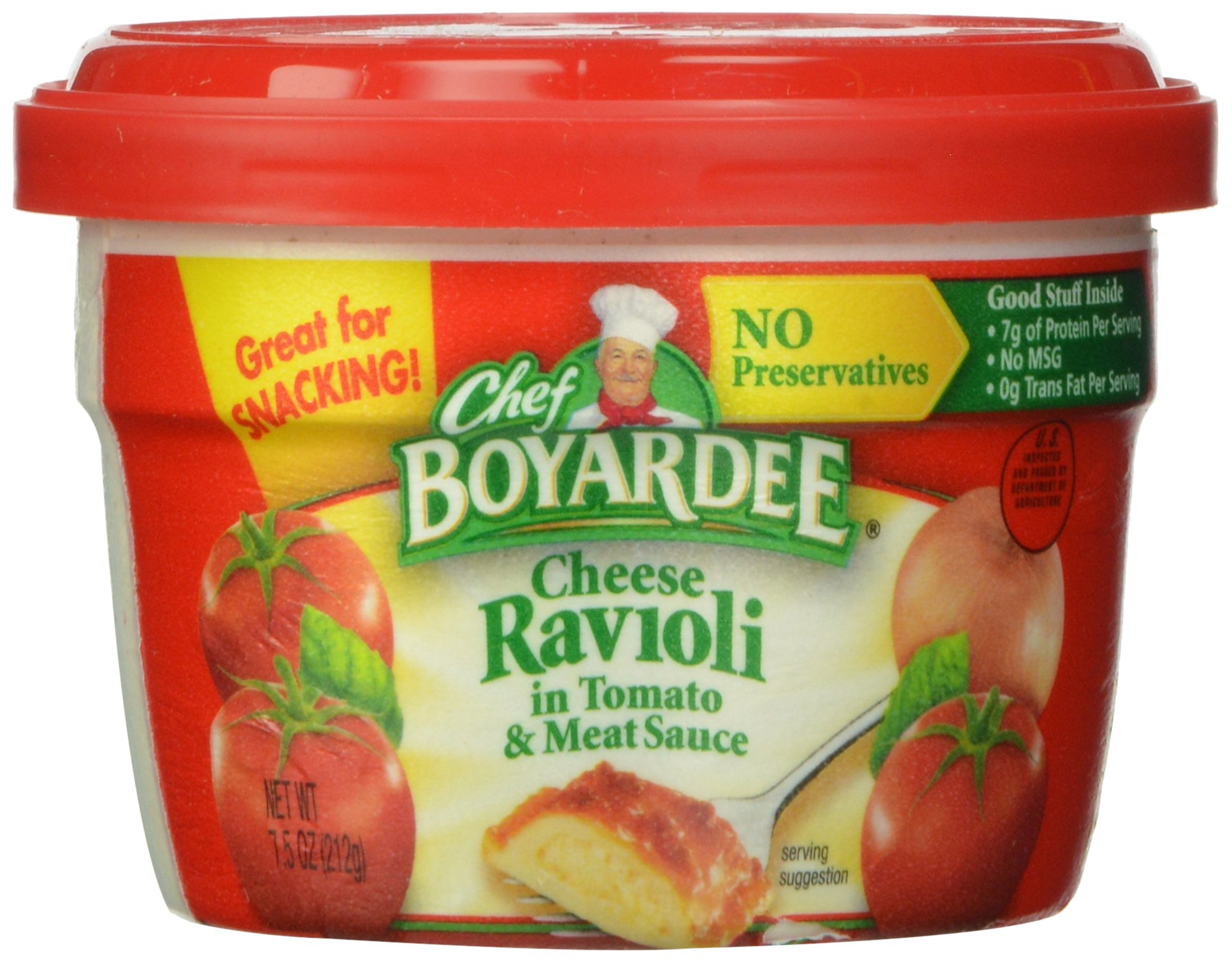 Chef Boyardee Cheese Ravioli, 7.5-Ounce Microwavable Bowls (Pack of 12)