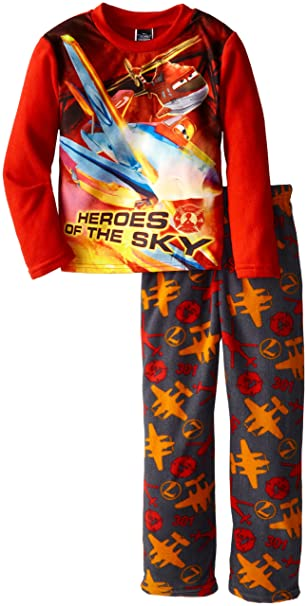 Disney Conjunto de pijamas de felpa acogedora de hšŠroes de fuego y rescate de hšŠroes de ni?os peque?os, Multi, 10: Amazon.es: Ropa y accesorios
