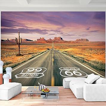 Fototapete Route 66 352 X 250 Cm Vlies Wand Tapete Wohnzimmer Schlafzimmer  Büro Flur Dekoration Wandbilder
