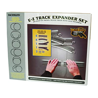 Bachmann Trains SnapFit EZ TRACK LAYOUT EXPANDER SET NICKEL SILVER Rail With Grey Roadbed HO Scale: Toys & Games