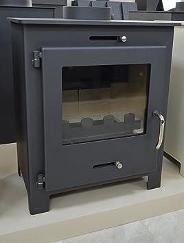 Estufa para madera, chimenea moderna Log quemador estufa de combustible sólido de la madera para 11 kW: Amazon.es: Bricolaje y herramientas