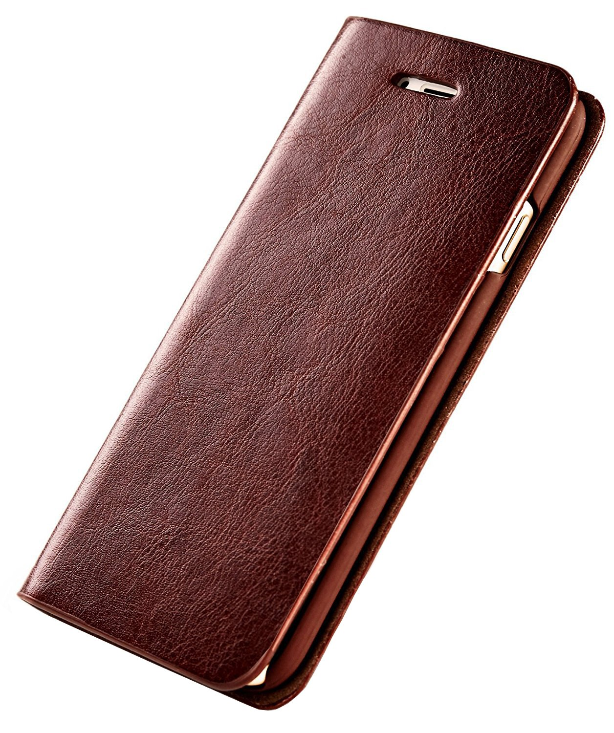Samsung Galaxy S9 Leather Wallet Case Slim Phone Case [Card Slot] Business Folio Flip Book Cover (Samsung Galaxy S9 (5.8), Brown)