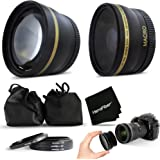 Superb 58mm Wide Angle Lens with Macro + 2 x Telephoto Lens Kit for CANON EOS REBEL T6i T6S T5 T5i T4i T3 T3i T2i T1i EOS M EOS M2 EOS 70D 60d 60Da 7D 6D 5D 7D Mark II 5D Mark II 5D Mark III EOS 1200D 1100D 760D 750D 700D 650D 600D 550D 8000D 100D XTi XT SL1 XSi DSLR Cameras