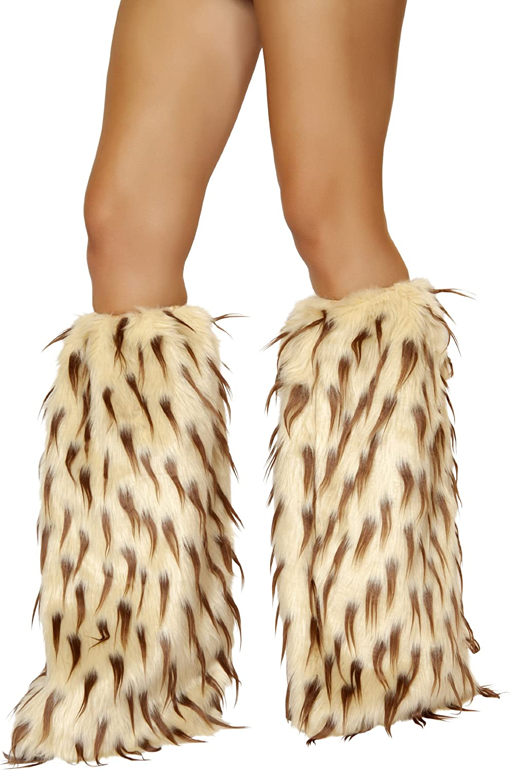 Roma Costume Womens Faux Fur Leg Warmer White Hot Pink