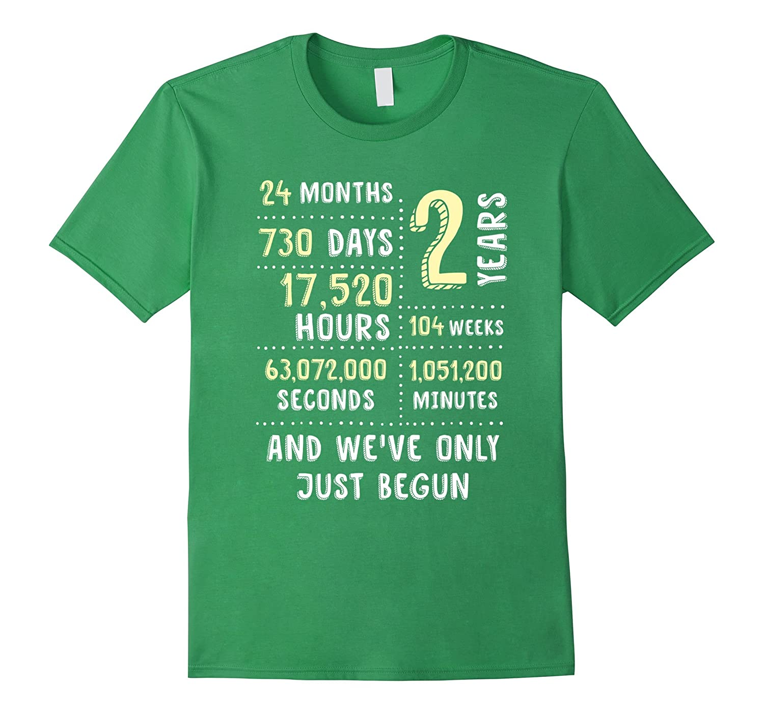 2 Year Anniversary T-Shirt  Cute Gift for Her or Him-PL