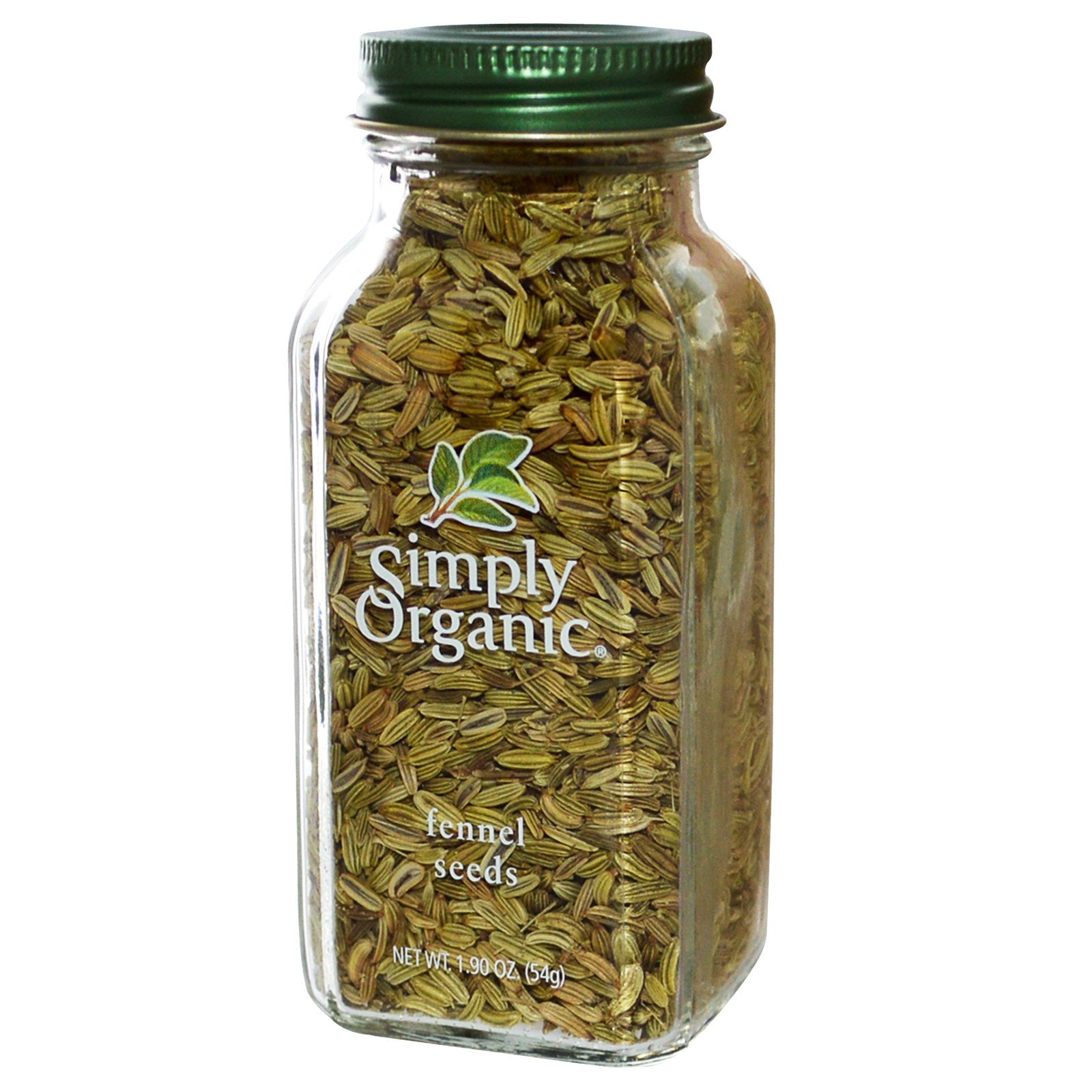 Simply Organic, Fennel Seeds, 1.90 oz (54 g) Simply Organic, Fennel Seeds, 1.90 oz (54 g) - 2pcs