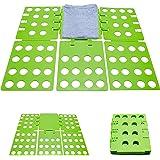 Grinscard Faltbrett Zusammenklappbar - Grün ca. 29 x 23 x 1 cm - Wäschefalter als Falthilfe für Hemden Blusen Shirts