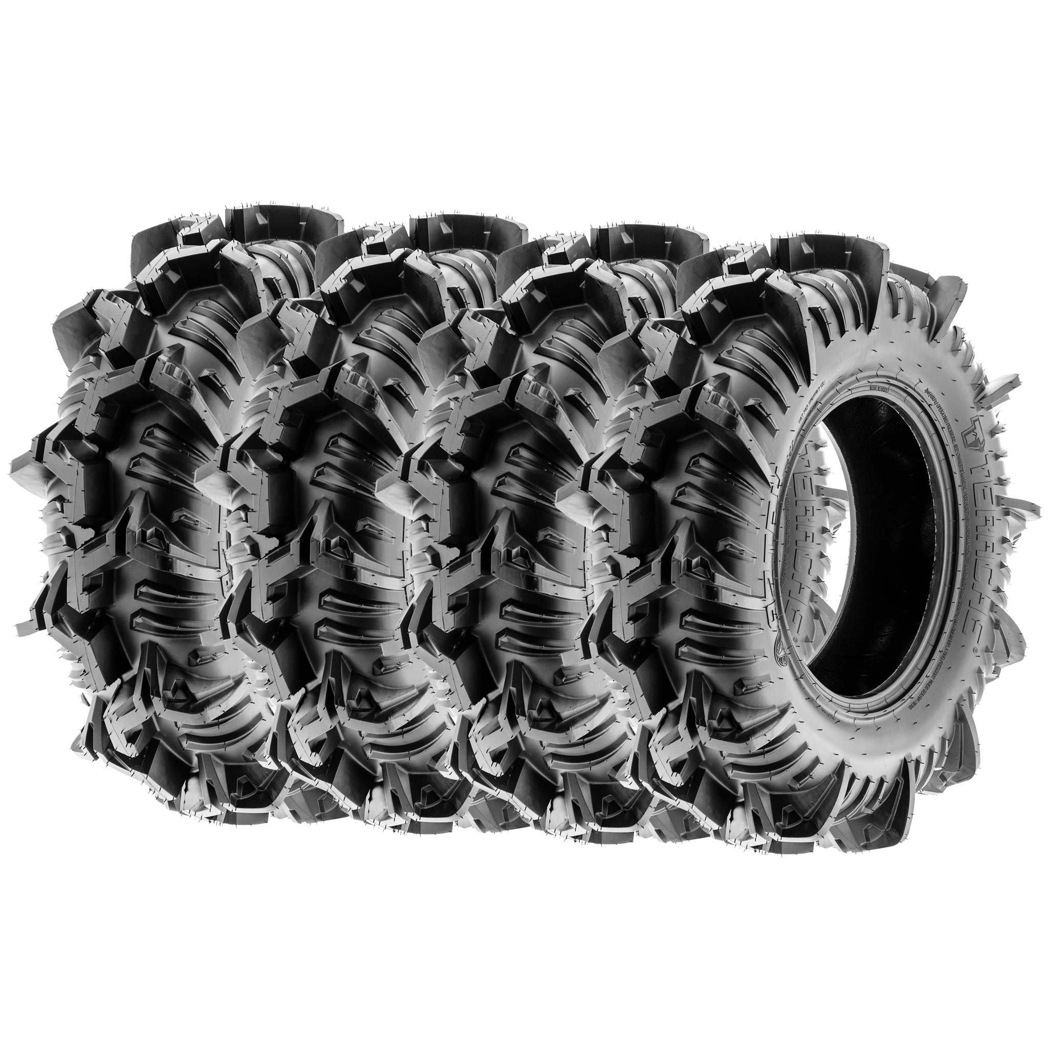 Terache AZTEX MT Mud A/T UTV Tires 30x9-14 30x9x14 8 Ply (Full set of 4, Front & Rear)
