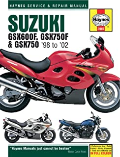 amazon com 98 02 suzuki gsx600f haynes repair manual misc rh amazon com 1993 suzuki katana 600 manual pdf katana 600 manual pdf