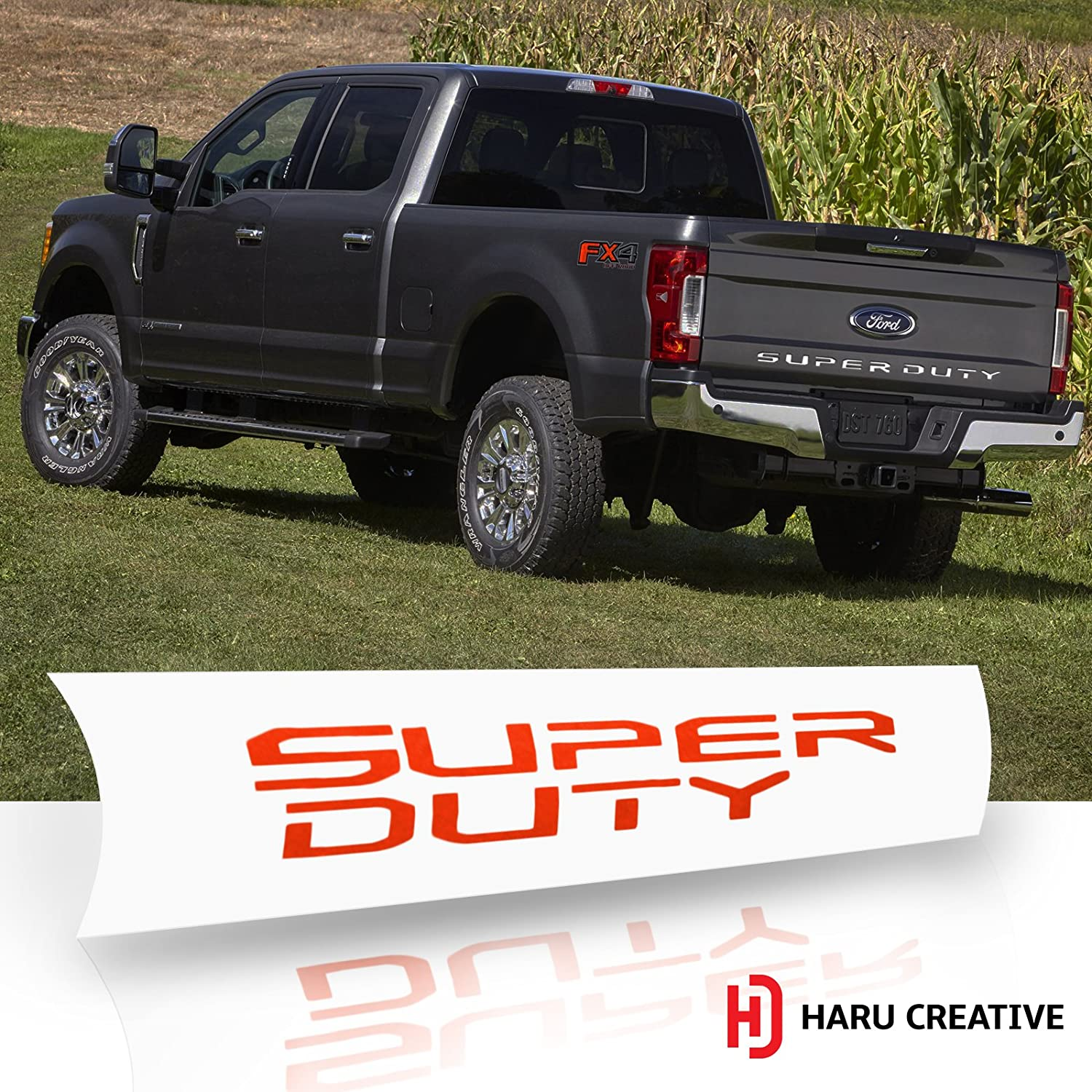 Rear Tailgate Trunk Letter Insert Overlay Vinyl Decal Sticker Compatible with and Fits Ford Super Duty F250 F350 F450 2017 2018 2019 Haru Creative Metallic Matte Chrome Blue