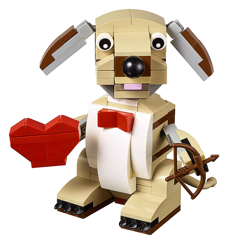 Amazon.com: LEGO Bricks U0026 More Valentines Cupid Dog 40201 Building Kit:  Toys U0026 Games