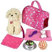 Click n' Play 9pièces poupée Puppy Ensemble et accessoires. Parfait pour 45,7cm Poupées