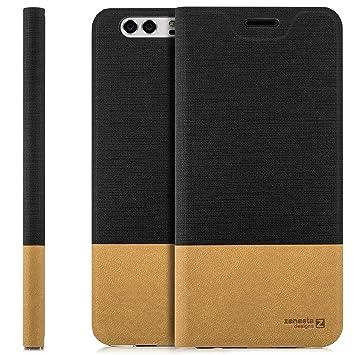 zanasta Funda Huawei Y6 2015 (SCL-L01) Case Cubierta Carcasa Flip Cover Tapa Delantera con Billetera para Tarjetas, Cierre Abatible - Protectora Negro