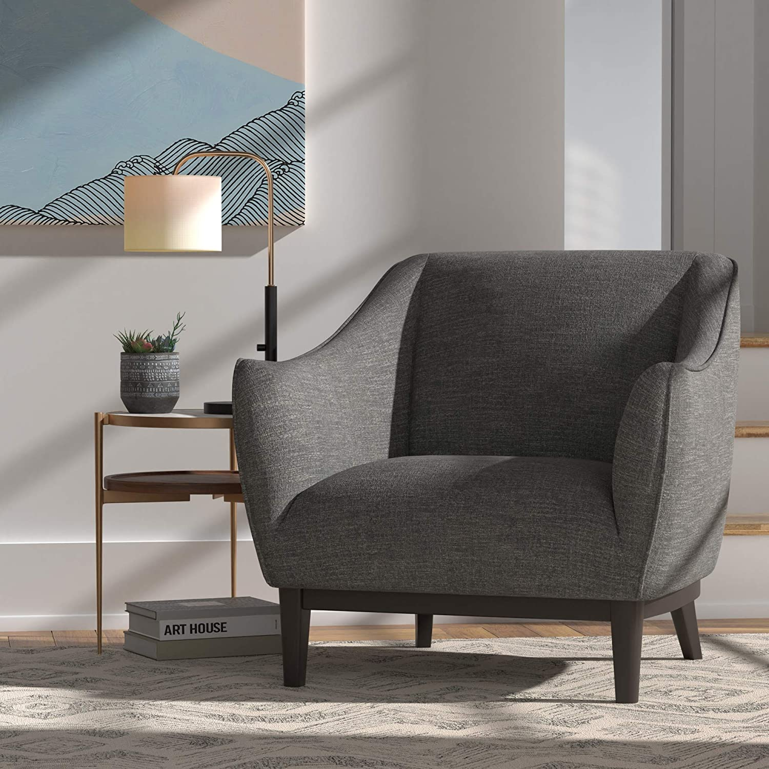 10. Rivet Bayard Contemporary Accent Chair – Best Supportive