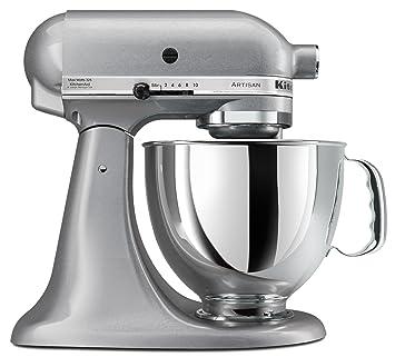 KitchenAid KSM150PSSM Artisan Series 5 Quart Stand Mixer, Silver Metallic  [Discontinued]