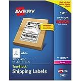 Avery Shipping Address Labels, Laser Printers, 500 Labels, Half Sheet Labels, Permanent Adhesive, TrueBlock (5912…