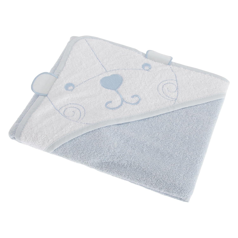 Snuggle - Asciugamano con cappuccio e orsetto per neonati (75 x 75 cm) (Blu) Snuggle Baby UTBABY1385_1