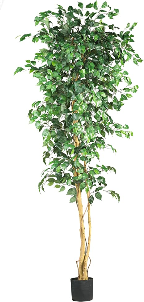 Amazon Com Nearly Natural Artificial Trees 84in Green Home Kitchen