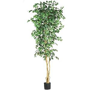 Nearly Natural 5210 Ficus Silk Tree, 7-Feet, Green