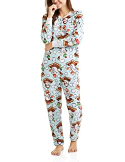 Secret Treasures Smore, The MERRIER Womens Drop Seat Union Suit Pajamas