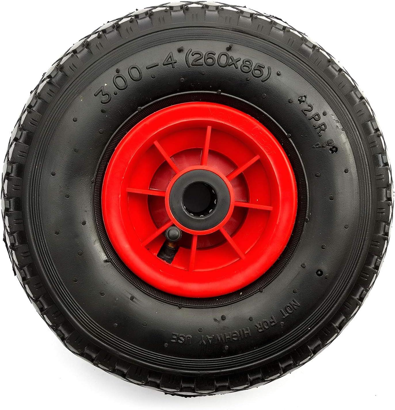10 Inch Heavy Duty Pneumatic Wheel /& Tyre 260mm 10 Sack Hand Truck Bent Valve