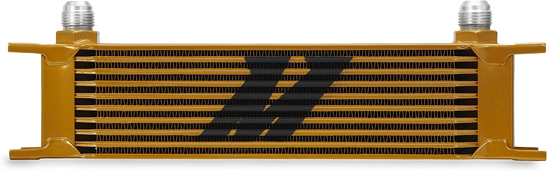 Universal 10 Row Oil Cooler Heat Exchanger Gold Mishimoto
