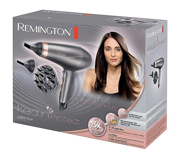 Remington Keratin Protect AC8820 - Secador de Pelo Profesional, Secador Iónico, 2 Concentradores y Difusor, 2200 W, Gris: Remington: Amazon.es: Salud y ...