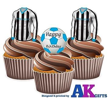 Joyeux Anniversaire De Newcastle Football Lot 12 Comestible Pour
