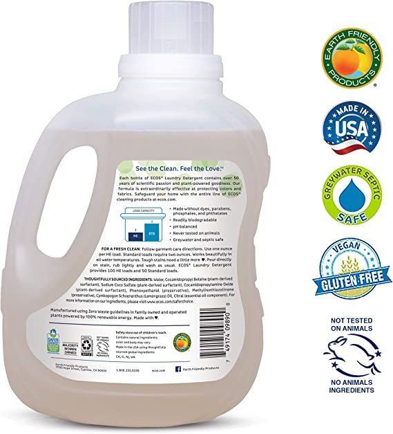 Earth Friendly Productos ECOS 2 x detergente líquido: Amazon.es ...