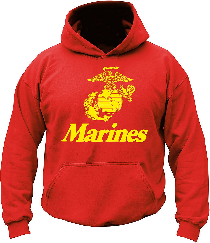 USMC Marines Red & Gold Hoodie