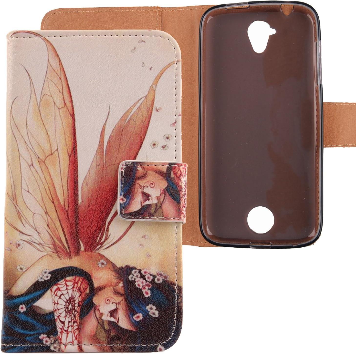 Lankashi Pattern Design PU Flip Leather Cover Skin Protective Case for 4.5