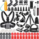 Neewer 83-in-1 Action Camera Accessory Kit for GoPro 8 GoPro Hero 7 6 5 4 Hero Session 5 Apeman DJI OSMO Action SJ6000 DBPOWER AKASO VicTsing Rollei Lightdow Camper