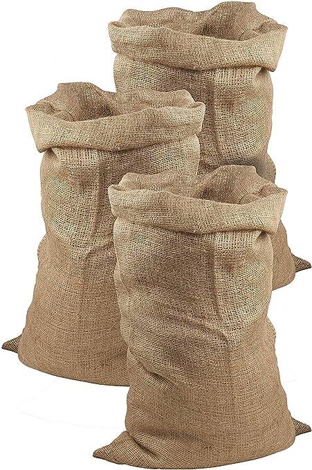 Juego de 3 sacos de yute de Meister, 105 x 60 cm, 50 kg de carga,