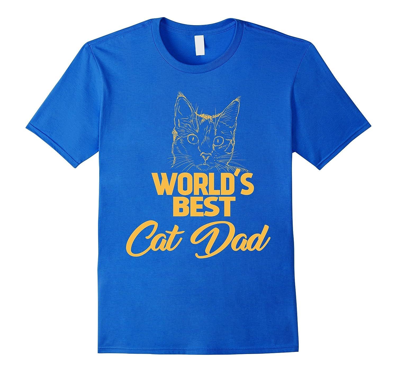 1135d03b2 Worlds Best Cat Dad Cat Lover Gift T-Shirt-TH - TEEHELEN