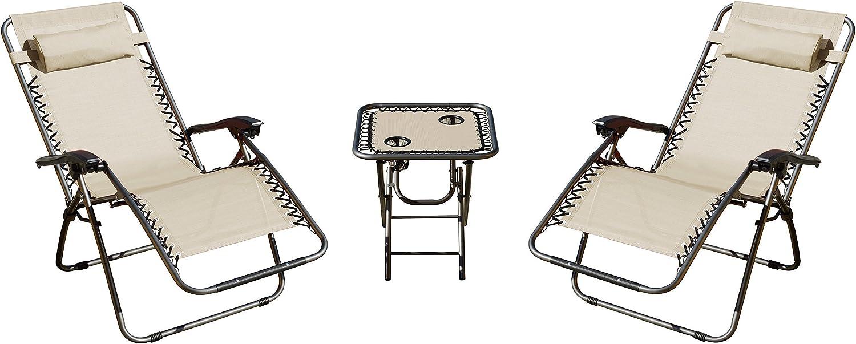 Amazon Com Akari 3 Piece Deluxe 2 Pack Zero Gravity Chairs And