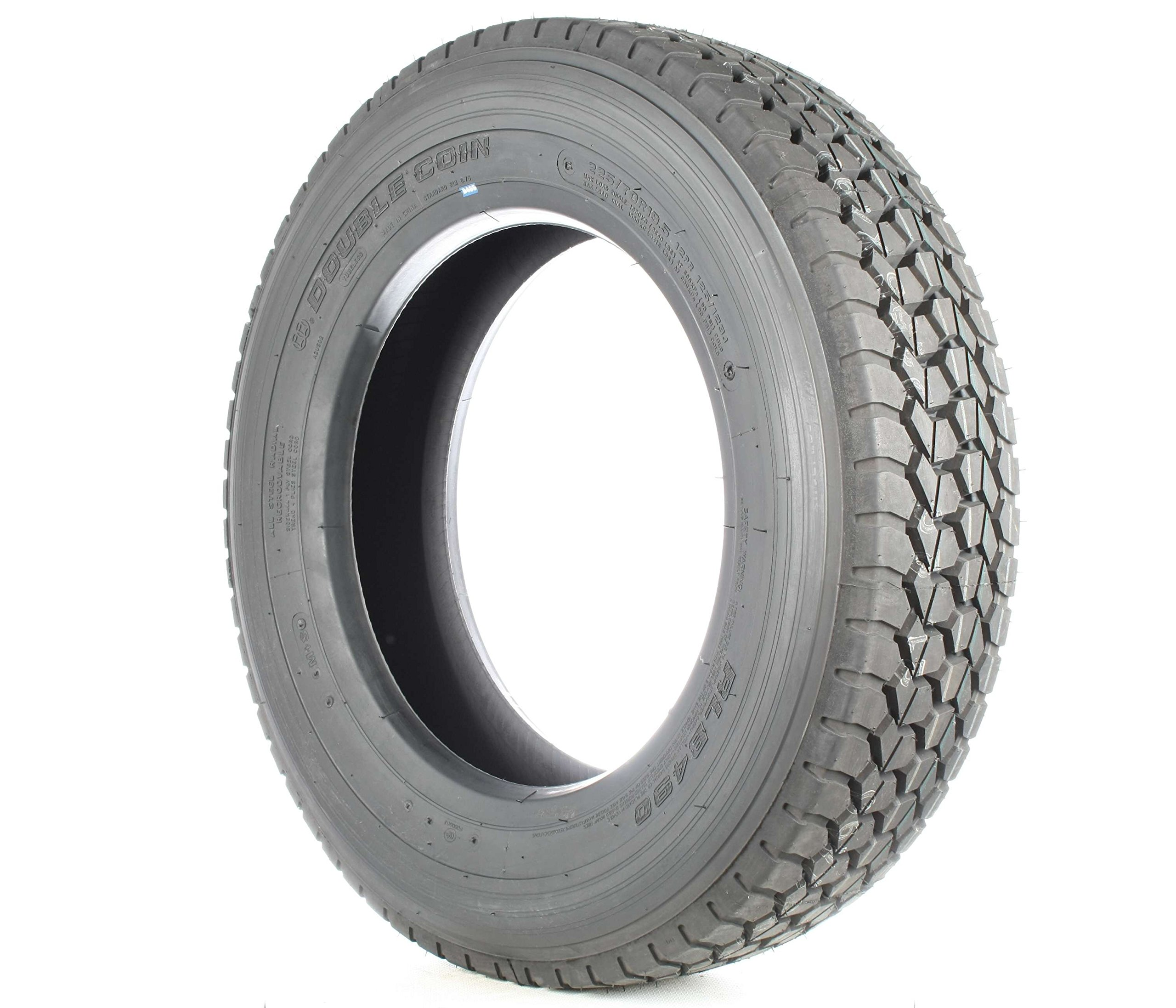 Double Coin RLB490 Low Profile Drive-Position Multi-Use Commercial Radial Truck Tire - 225/70R19.5 12 ply by Double Coin (Image #2)
