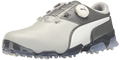 puma golf shoes. puma men\u0027s titantour ignite disc golf-shoes, gray violet-puma white-steel puma golf shoes