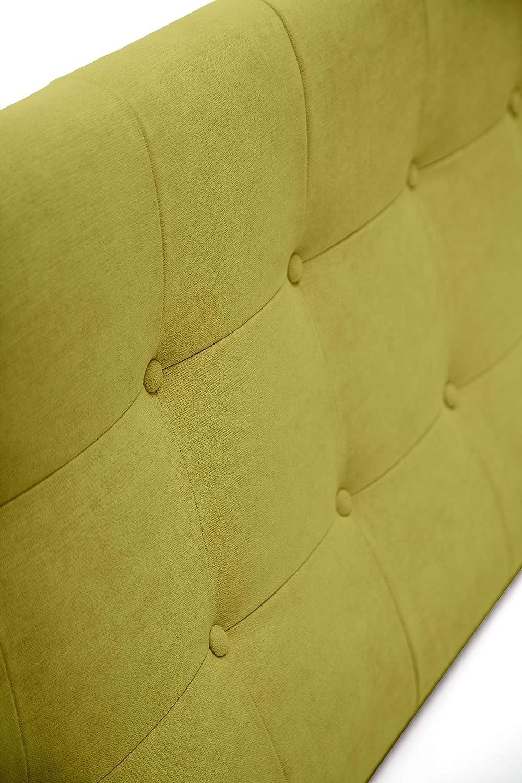 Cabeceros de Cama 135 cm Cabezal tapizado ACUALINE limpiafacil Cabezales de Cama Acolchado Zurich Cabeceros de Cama Matrimonio Color Verde Agua SuenosZzz