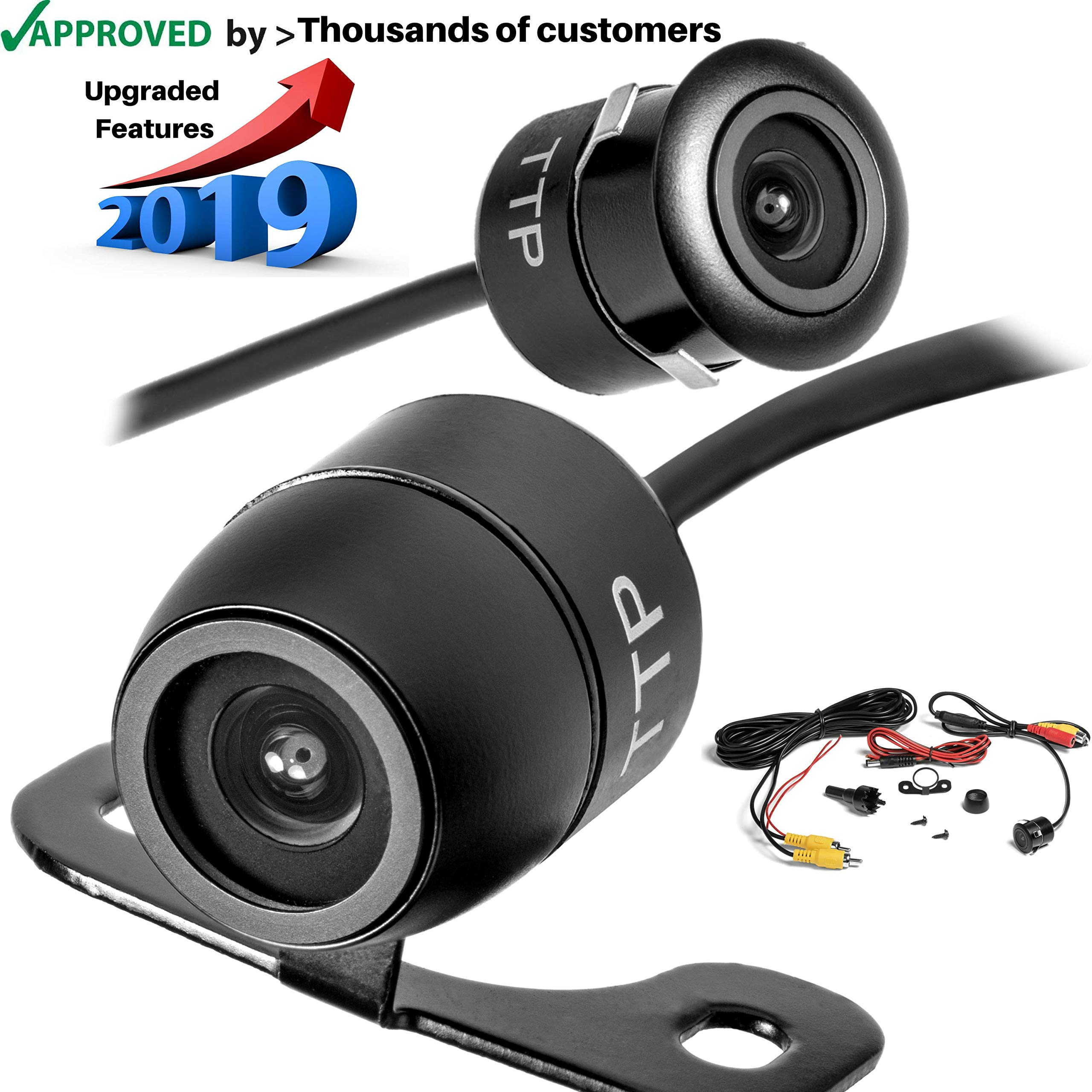 Best Rated In Vehicle Backup Cameras Helpful Customer Reviews Wiring Camera F150 Toptierpro Upgraded Mini 170 Viewing Angle Multi Function Car Reversing Rear View