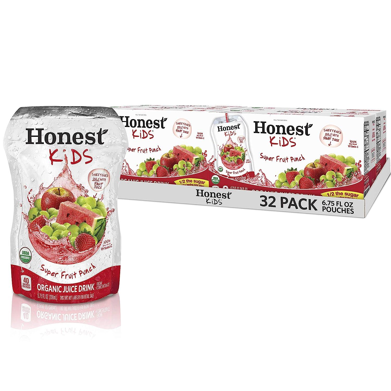 Honest Kids Super Fruit Punch Organic Fruit Juice Drink, 6.75 Fl. Oz, 32 Pack