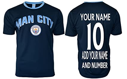 best sneakers eb3e5 ee491 ICON SPORTS Manchester City Soccer Jersey Men's Adult Training Custom Name  and Number