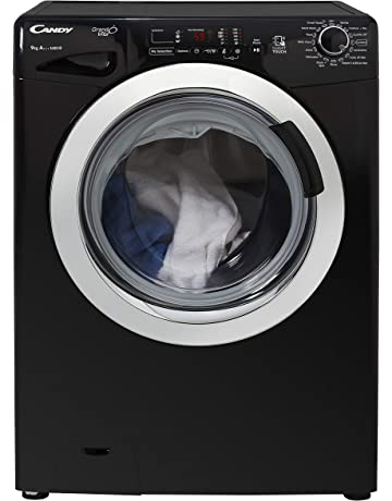 Candy GVS 169DC3B Freestanding Washing Machine, NFC Connected, 9Kg Load, 1600rpm spin, Black [Energy Class A+++]