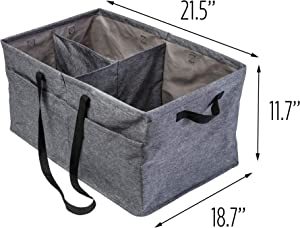 Honey-Can-Do Large Trunk Organizer, Textured Grey