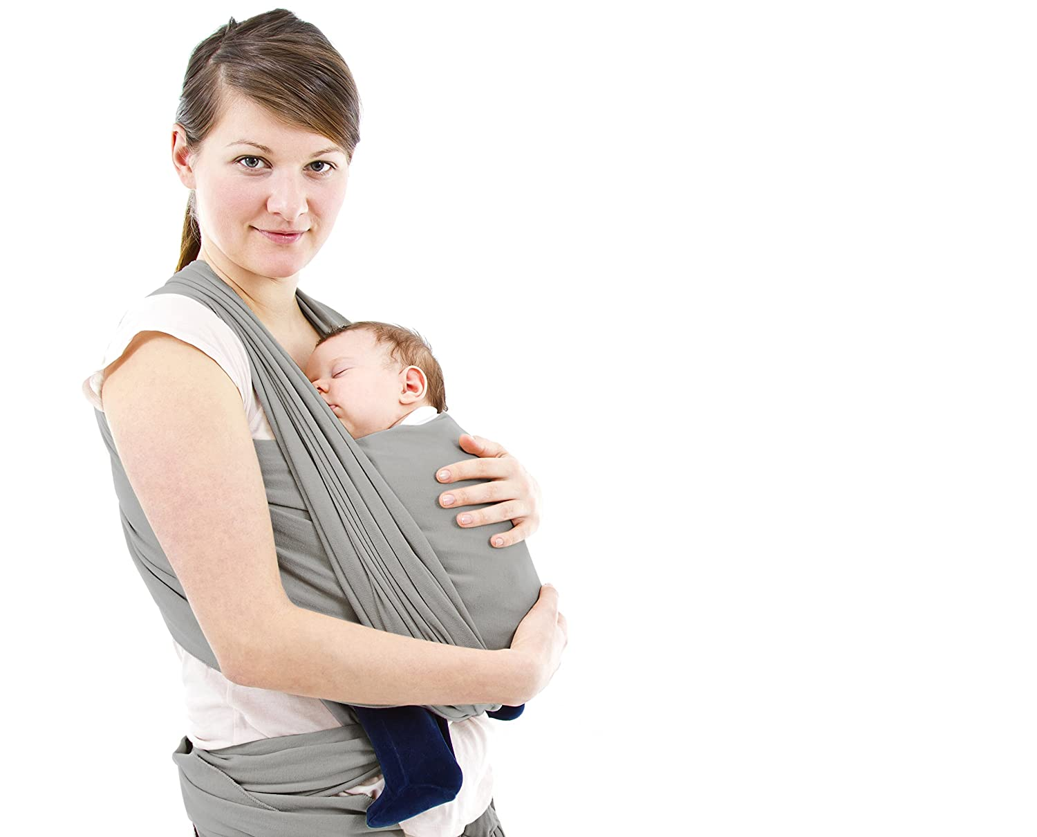 Baby Sling Wrap 5 Colors, Use as Nursing Cover Comfy Stretchy Infant Newborn /& Toddler Sling Carrier Mesh is Breathable Lightweight Striped Swaddle /& for Breastfeeding Postpartum Belt Black White